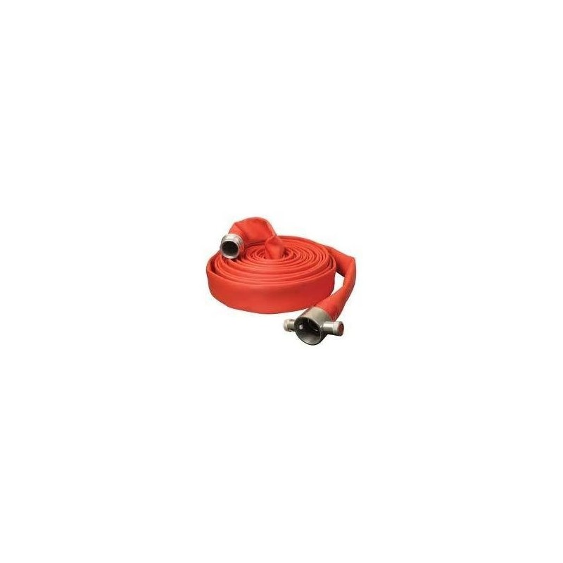 "Aquarush Fire Hose 2/2"" 75 Ft C/W Couplings"