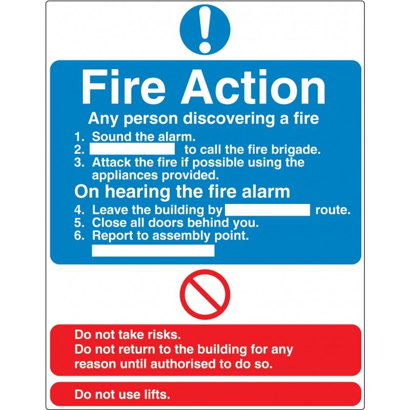 Fire Action (what to do)